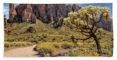Superstition Mountain Cholla Hand Towel
