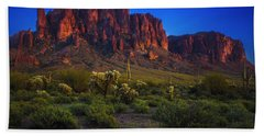 Superstition Mountain Sunset Hand Towel