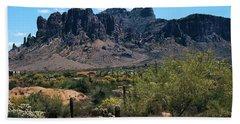 Superstition Mountains Arizona Hand Towel