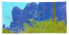 Superstition Mountains Bath Towel