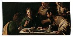 Supper At Emmaus Hand Towel