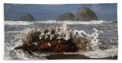 Surf And Three Arch Rocks Hand Towel