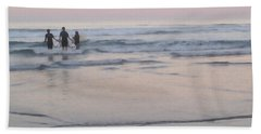 Hand Towel featuring the photograph Surf Crew by Art Block Collections