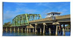 Bath Towel featuring the photograph Surf City Bridge - 1 by Bob Sample