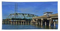 Bath Towel featuring the photograph Surf City Bridge - 2 by Bob Sample