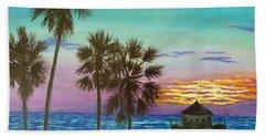 Surf City Sunset Hand Towel