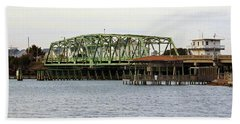 Surf City Swing Bridge Hand Towel by Cynthia Guinn