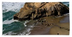 Surf Fishing At Ocean Beach Bath Towel