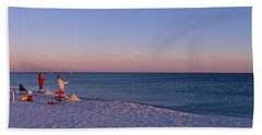 Surf Fishing At Santa Rosa Island Hand Towel