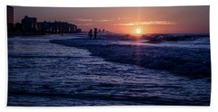 Surf Fishing At Sunrise Hand Towel
