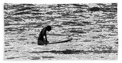 Surf Meditation Bath Towel by Suzette Kallen