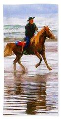 Surf Rider Hand Towel by Wendy McKennon