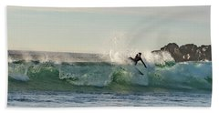 Surfer Carlsbad Jetty Hand Towel