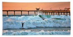 Surfer Celebration Hand Towel