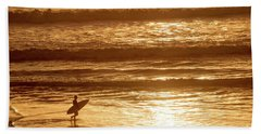 Surfer Hand Towel by Delphimages Photo Creations