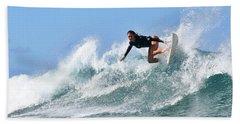 Surfer Girl At Bowls 5 Hand Towel