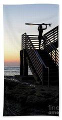 Surfer, Sunset Cliffs, San Diego, California  -74759 Bath Towel