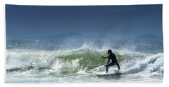 Surfing At Byron Bay Hand Towel
