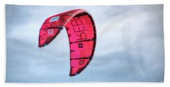 Hand Towel featuring the photograph Surfing Kite by Adrian LaRoque