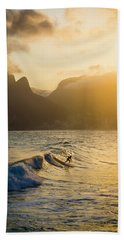 Surfing Magic Hand Towel by Lana Enderle