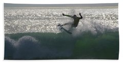 Surfing The Light Hand Towel by Thierry Bouriat