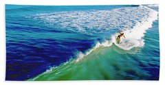 Surfs Up Daytona Beach Bath Towel