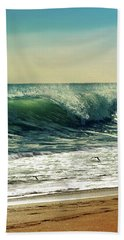Hand Towel featuring the photograph Surf's Up by Laura Fasulo