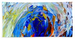Bath Towel featuring the painting Surge 1 by Fred Wilson