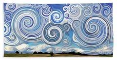 Surreal Cloud Blue Hand Towel