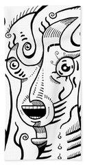 Surrealism Scream Black And White Hand Towel