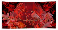 Hand Towel featuring the photograph Surrealism Of Nature Autumn Colors by Suzanne Powers