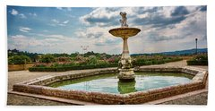 The Monkeys Fountain At The Gardens Of The Knight In Florence, Italy Bath Towel