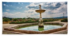 The Monkeys Fountain At The Gardens Of The Knight In Florence, Italy Hand Towel