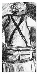 Hand Towel featuring the painting Suspenders by Cathie Richardson