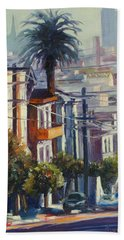 Post Street Hand Towel by Rick Nederlof