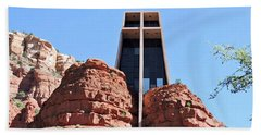 Suzannes Chapel Of The Holy Cross Sedona 3     Hand Towel