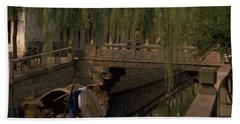 Bath Towel featuring the photograph Suzhou Canals by Travel Pics