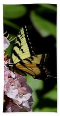 Swallow Tail On Mountain Laurel Hand Towel