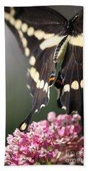 Swallowtail Departing Bath Towel by Mary-Lee Sanders