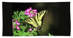 Swallowtail In The Garden 1 - Visions Of Spring Bath Towel