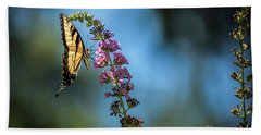 Hand Towel featuring the photograph Swallowtail Lookout by Judy Wolinsky