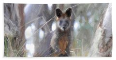 Swamp Wallaby Hand Towel