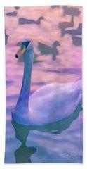 Swan At Twilight Hand Towel