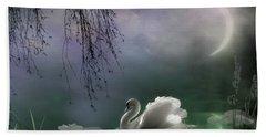Swan By Moonlight Hand Towel