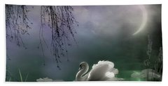 Swan By Moonlight Bath Towel