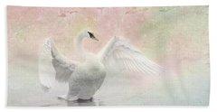 Swan Dream - Display Spring Pastel Colors Hand Towel