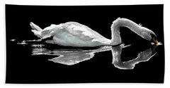 Swan Lake Nature Photo 2121a Hand Towel
