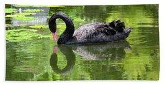 Swan Of Hearts Hand Towel