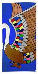 Swan Hand Towel by Stephanie Moore