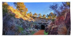 Hand Towel featuring the photograph Swan View Railway Tunnel by Dave Catley